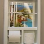 In Wall Bevel Framed Magazine Rack Toilet Paper Holder Overstock 4034838