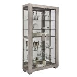 Shop Black Friday Deals On Taupe Modern Lighted 5 Shelf Curio Display Cabinet Overstock 30014830