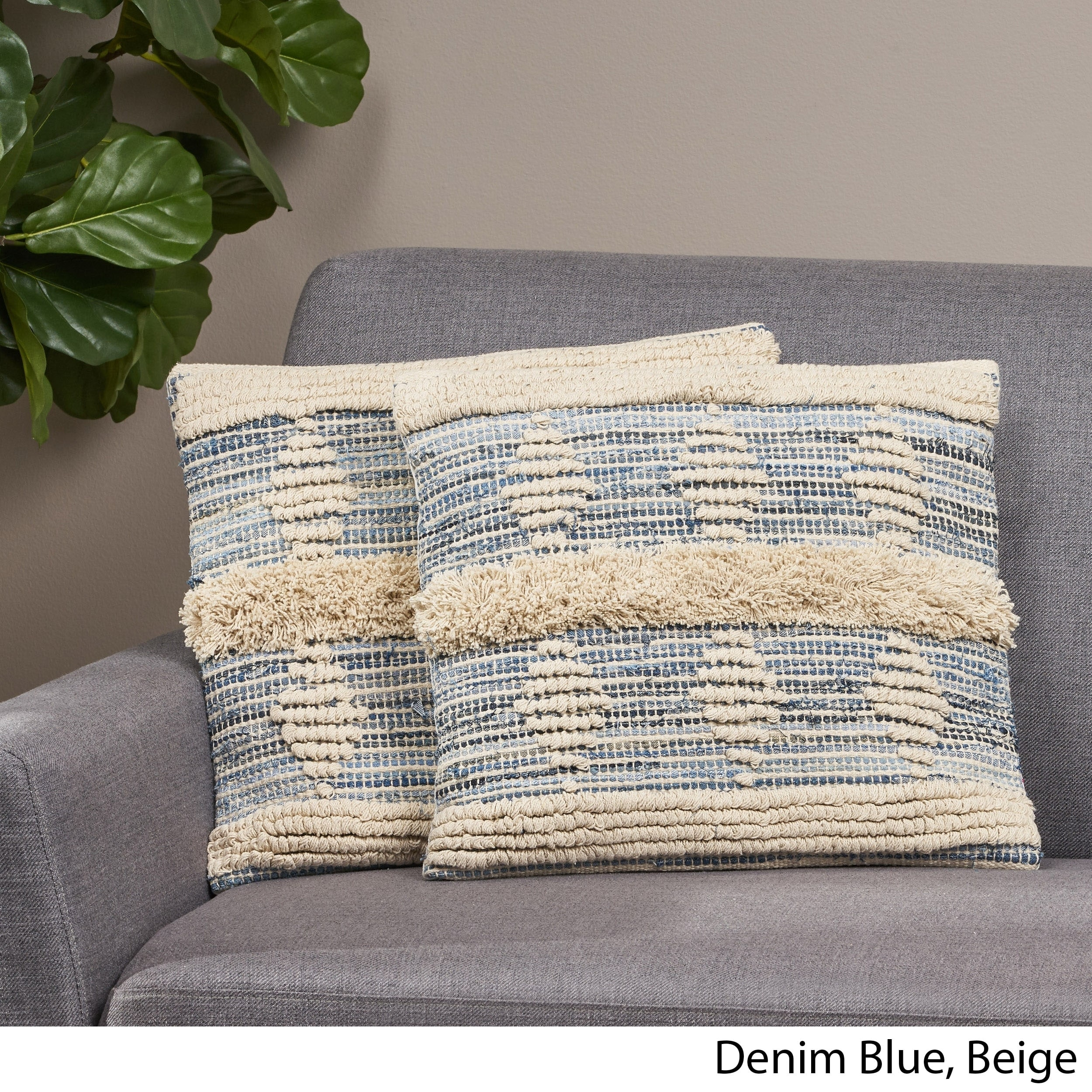 Shop Hersey Boho Pillow Cover By Christopher Knight Home Overstock 30148511