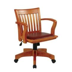 Wood Office Chair Special Needs Chairs Uk Shop Copper Grove Wilbur Vintage Padded Banker S On Sale Free Shipping Today Overstock Com 22695705