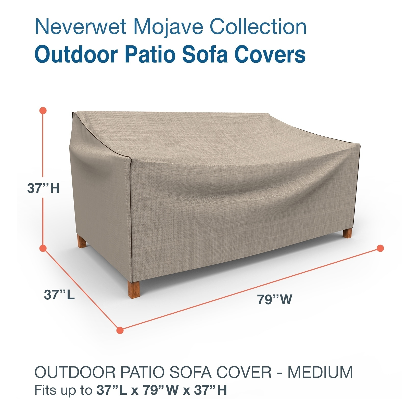 budge waterproof outdoor patio sofa cover neverwet mojave black ivory multiple sizes