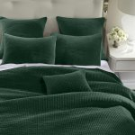 Hiend Accents Stone Washed Cotton Velvet Quilt Set King Emerald Overstock 30370097