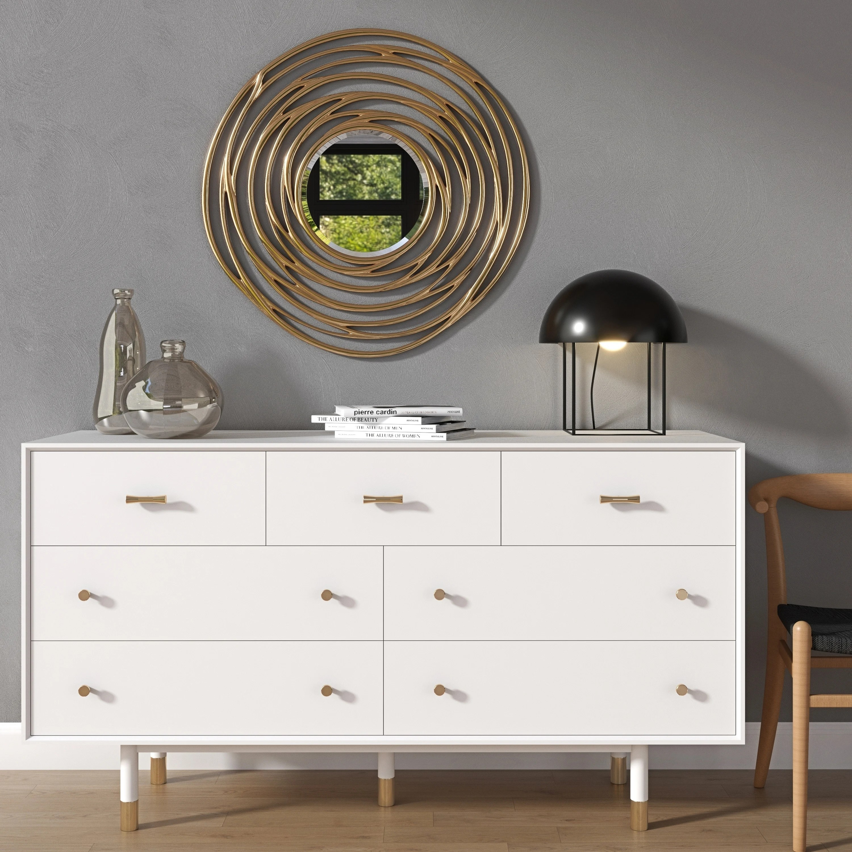 strick bolton knisley white gold rubberwood dresser