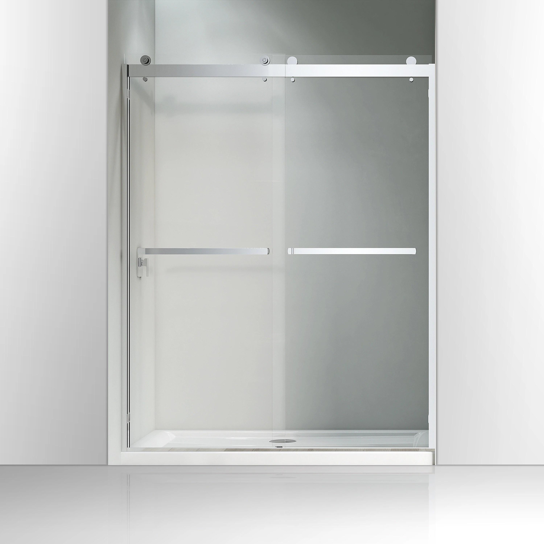 Vanity Art 60 X 76 Frameless Bypass Sliding Glass Shower Door 2 Ways Sliding Tub Doors