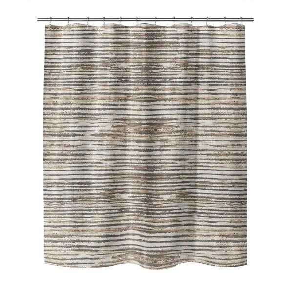 wabi sabi stripe brown shower curtain by kavka designs