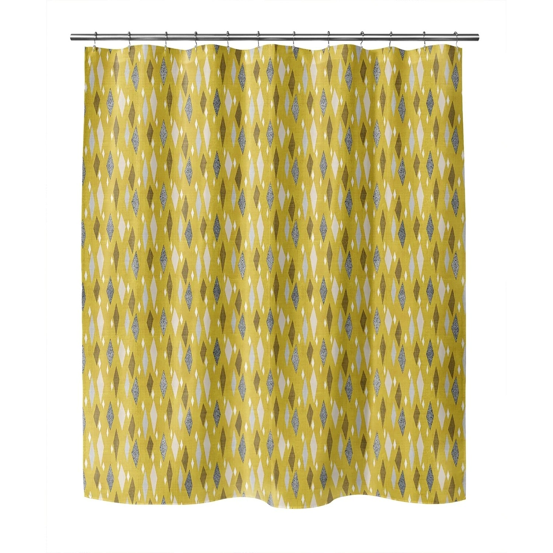 danish diamond mustard shower curtain by kavka designs