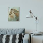 Stupell Industries Horse Portrait Green Brown Animal Painting Wood Wall Art Overstock 30501080