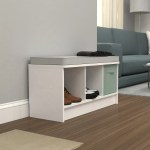 Porch Den Southbrook 3 Cube Storage Bench With Grey Cushion On Sale Overstock 30525964