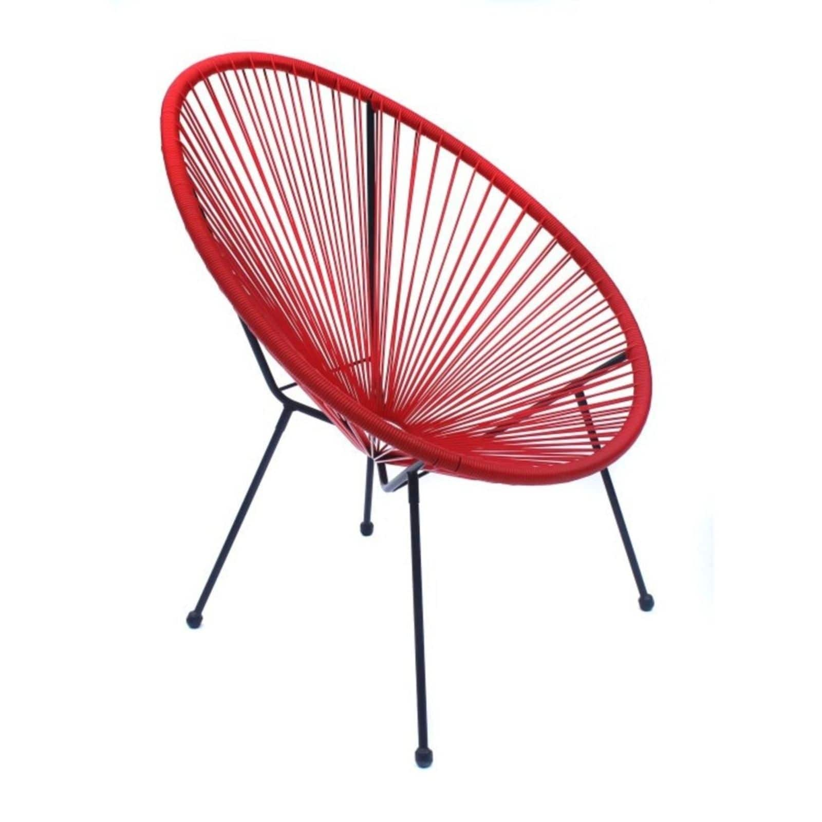 acapulco red resort grade wicker patio chairs 3 pack