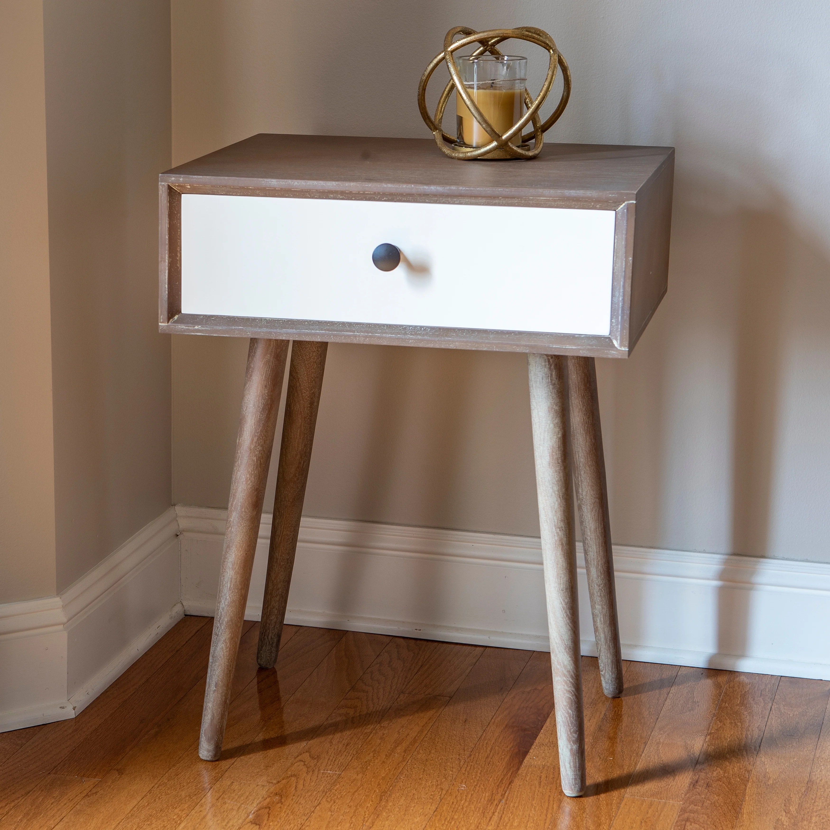Melvin Mid Century Modern Storage Accent Table On Sale Overstock 30671147