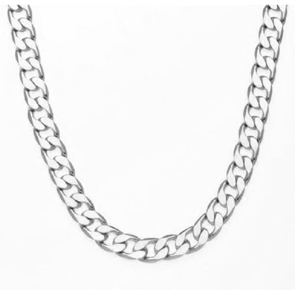 Shop 12mm Silver Overlay 30-Inch Cuban Link Necklace by