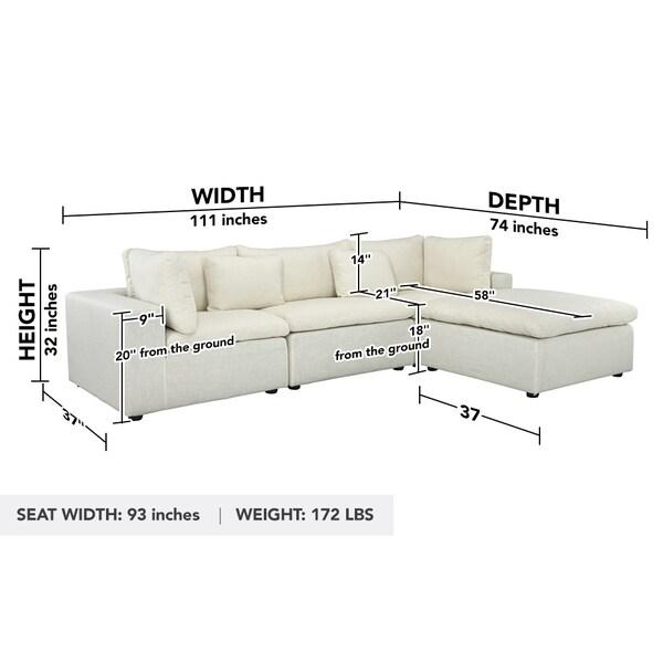 modern 3 seater sofa configurable
