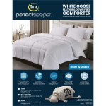 Serta 233 Thread Count White Goose Feather And White Goose Down Fiber Comforter On Sale Overstock 30798519