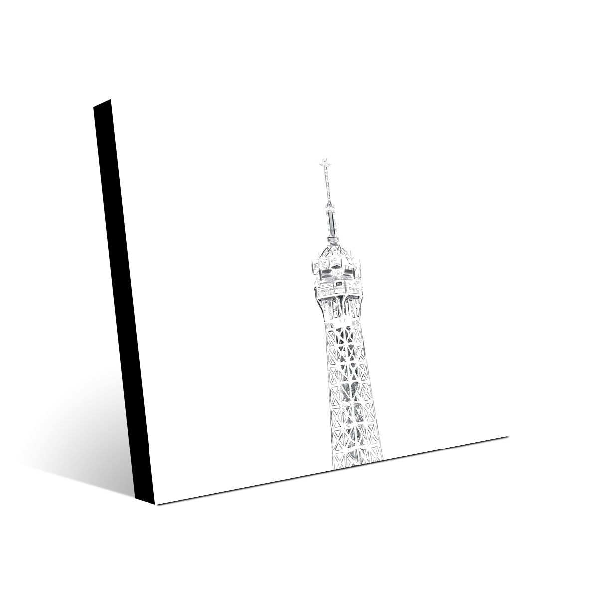 Shop Kathy Ireland Triptych Eiffel Tower Drawing Top On Metal Wall Art Print Overstock 30957061