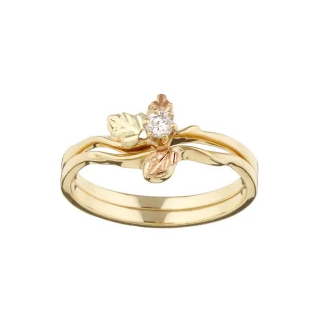 Black Hills Gold 110ct TDW Diamond Wedding Set H I I1