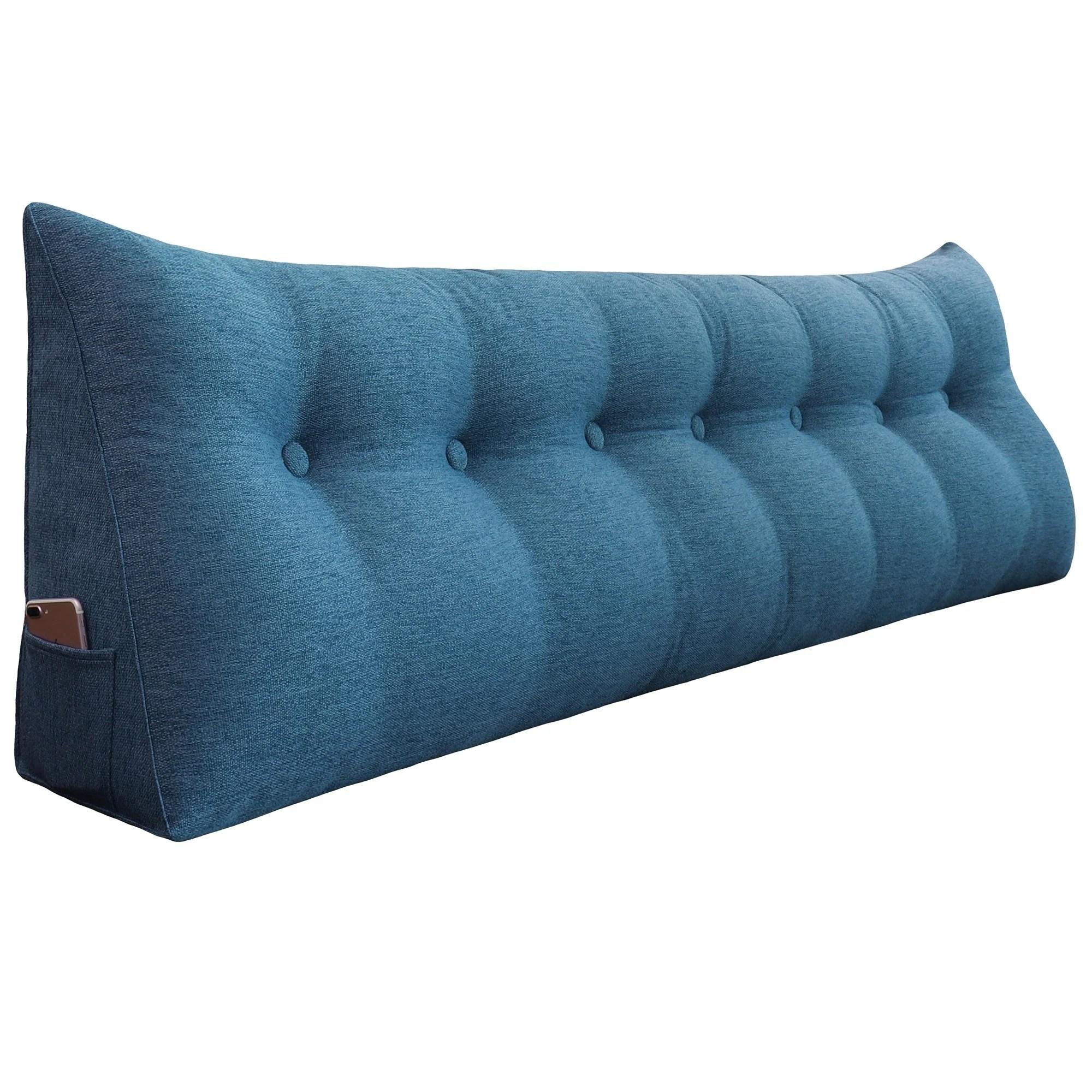 Shop Wowmax Bed Rest Wedge Pillow Oversized Extra Long Back Lumbar Pillow Overstock 30994608