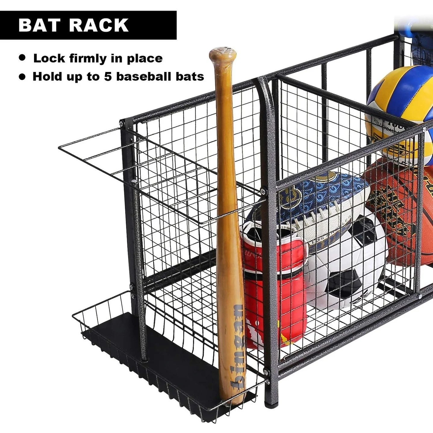 sports equipment garage organizer sport balls storage rack organizer