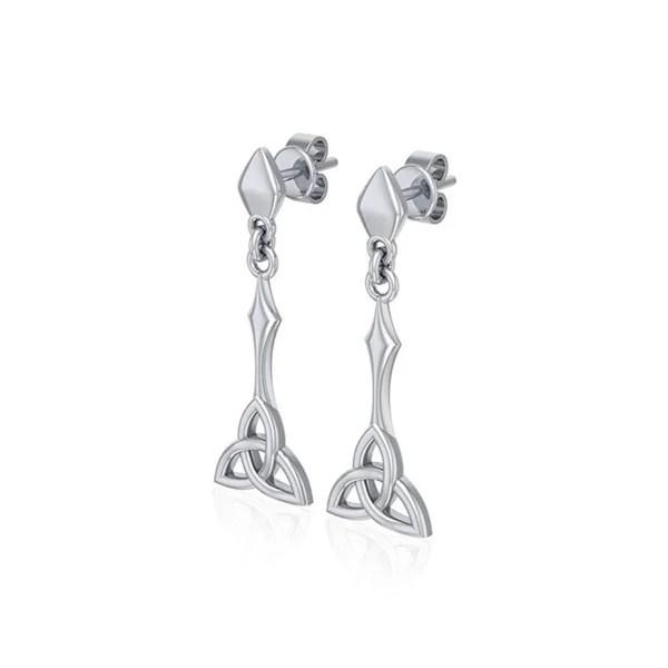 Shop Sterling Silver Celtic Trinity Knot Long Dangle