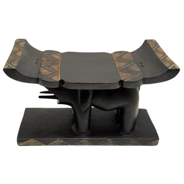 stool chair ghana white dining covers canada shop handmade elephant head free shipping today