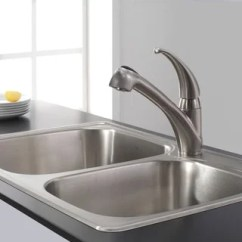 Moen Renzo Kitchen Faucet Barnwood Cabinets 67315c Integra One-handle Pullout ...