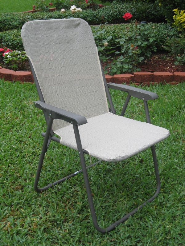 'victory Garden' Textweave Folding Outdoor Chairs Set Of