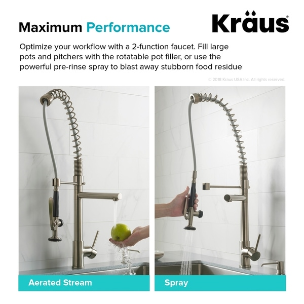 kraus commercial style single handle