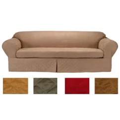 Quilted Microsuede Sofa Cover Everest 3 Piece Sectional With And 2 Chaises Buy Couch Slipcovers Online At Overstock Com Our Classic Slipcover