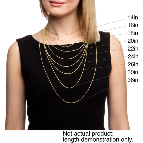 Fremada 10k Yellow Gold Singapore Chain Necklace 18-24 Inches