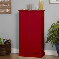 Shop Simple Living Pine Utility Kitchen Pantry - On Sale ...