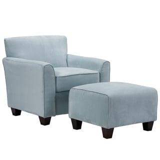 chair with ottoman kidkraft avalon table and set white shop handy living park avenue sky blue hand tied accent on sale free shipping today overstock com 3312374
