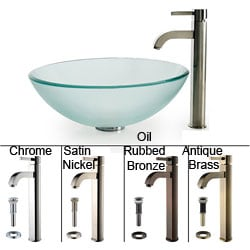 sale kraus frosted glass vessel sink and ramus faucet avcxzgrfds