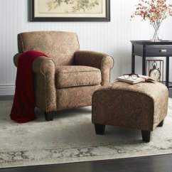 Overstock Arm Chair Padded Stadium Chairs With Backs Shop Portfolio Mira 8 Way Hand Tied Paisley And Ottoman
