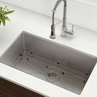 cheap kitchen sinks red white and black tiles buy online at overstock com our best deals kraus khu100 30 standart pro undermount inch 16 gauge single bowl satin stainless