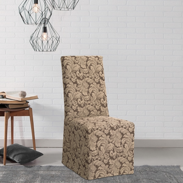 slipcovers for living room chair recliner chairs argos shop sure fit scroll dining slipcover free shipping on