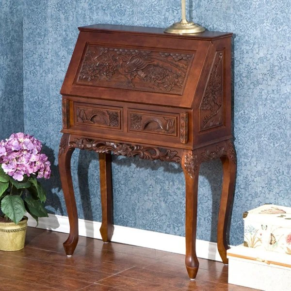 Decorative Carved Study Desk  Free Shipping Today