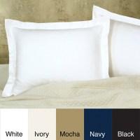 Cotton Blend Poplin Tailored Decorative Pillow Shams (Pack ...