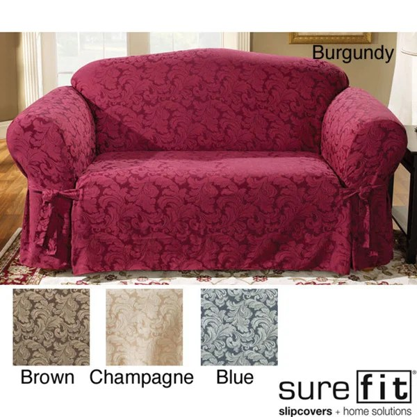 durham one piece sofa slipcover angelo home sure fit scroll loveseat - 11886625 overstock ...