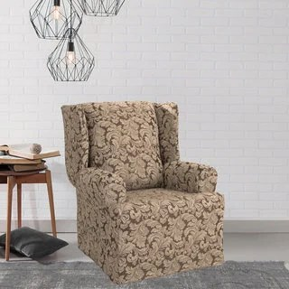 cotton recliner chair covers egg swing buy wing slipcovers online at scroll slipcover