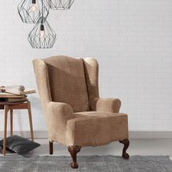 Sure Fit Wing Chair Slipcover Bath Lift Chairs Shop Royal Diamond Stretch Free