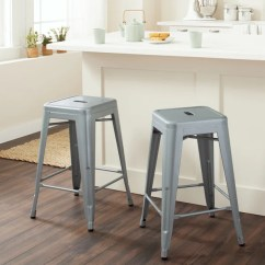 24 Inch Counter Chairs And Ottomans Upholstered Shop Tabouret Metal Stools Set Of 2 Free