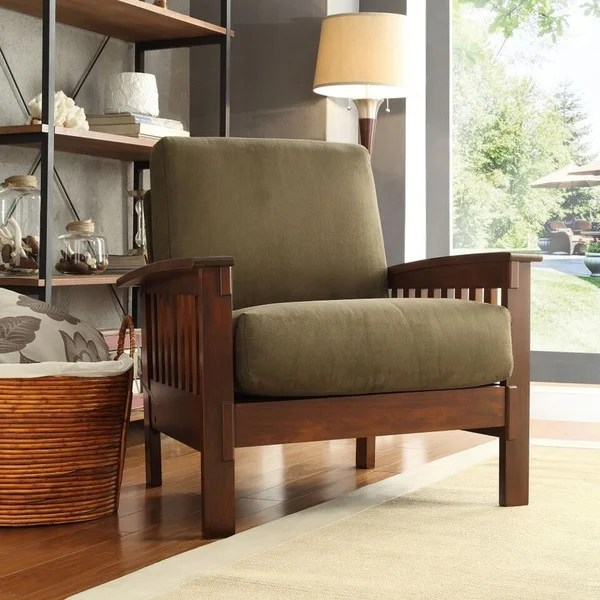 Hills MissionStyle Oak Accent Chair by iNSPIRE Q Classic