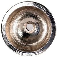 Round 12-inch Round Hammered Nickel Sink - Free Shipping ...