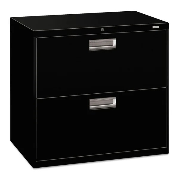 HON 600 Series Black 30inch Wide 2drawer Lateral File