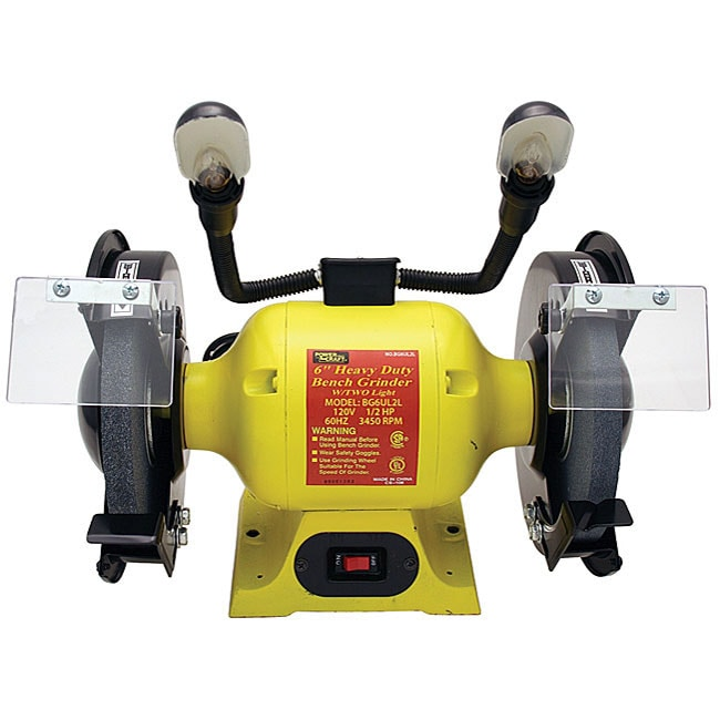 Heavy Duty Two Light 6 Inch Bench Grinder Free Shipping