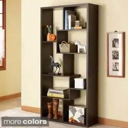 Verena Contoured Leveled Display Cabinet/ Bookcase