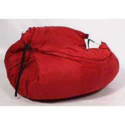 fufsack sofa sleeper lounge chair memory foam bed mattress shop red microsuede free thumbnail