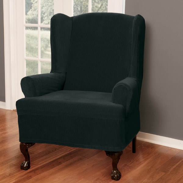 Shop Maytex Collin Wing Chair Slipcover  Free Shipping