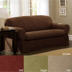 Overstock Sofa Covers Dhp Emily Convertible Futon Couch Maytex Piped Suede 2 Piece Slipcover
