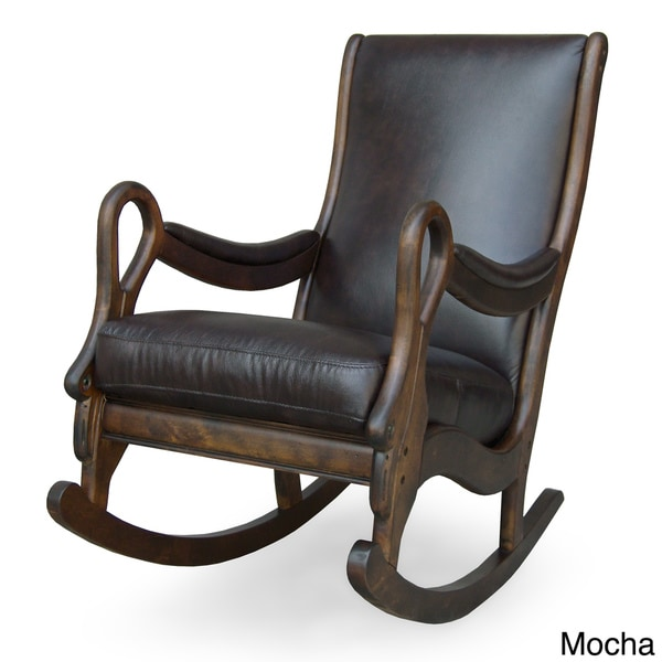 Vintage Leather Rocking Chair  12146723  Overstockcom