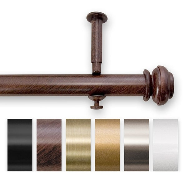 Amazing Pinnacle Bold Pole Adjustable 144 To 240 Inch Length Curtain Rod